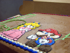 Super Mario and Princess Peach Cake